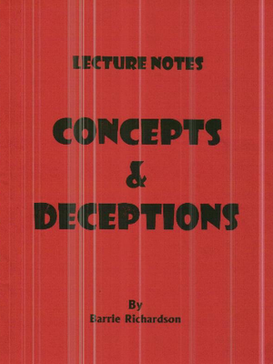 Concepts And Deceptions by Barrie Richardson